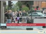 Oslo : les images de la télévisions norvégienne