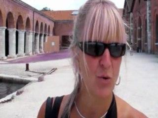 54° BIENNALE di Arte di Venezia met Hilde Frateur (werk Angel Vergara, Urs Fischer ea.)