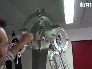 Horloge monumentale en gare d'Auxon