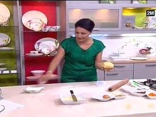 Recette de Couronne a la confiture et pépites de chocolat