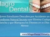 milagro dental remedios caseros para blanquear los dientes