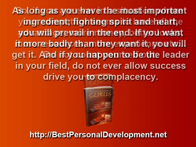 Personal Development – Never, Ever, Give Up!