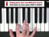 Easy Piano Chords - G Major Chord - Beginner Tutorial