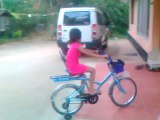 Sheetal Manandrai With Bicycle