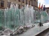 Wroclaw (Breslau) fontaine sur le Rynek du centre ville en Pologne