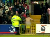 Police fail: mad streaker escapes on football pitch