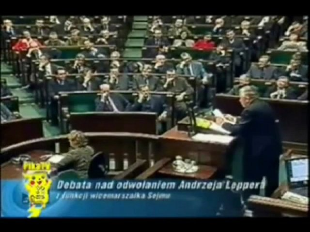 Mogli chcieć go zabić! Lepper w Sejmie 2001 r. ujawnił nazwiska, sumy, polityków pracujących dla mafii, cz.1.