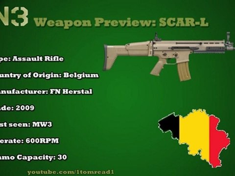 Modern Warfare 3 - Gun Information - SCAR-L | Episode 22
