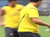 Alexis Sánchez es la principal novedad del entrenamiento del Barcelona