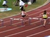 """Claire DUCOS - 400m haies 66""""18 - Série championnats de France jeunes 2011 à Dreux"""