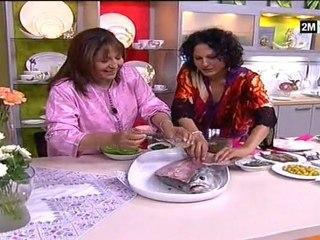 poisson chermoula choumicha ramadan 2011 - chou aux fruits mer de fadila ben moussa et choumicha 2011