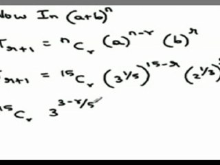 Using Iterative methods to find ratio of two successive terms in a Binomial Expansion