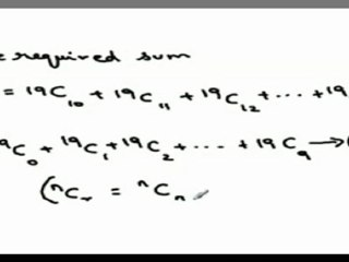 Use of sum of co-efficient of Binomial Expansion