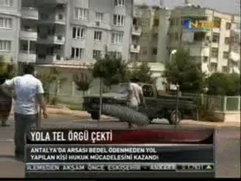 Antalya yola tel örgü çekti