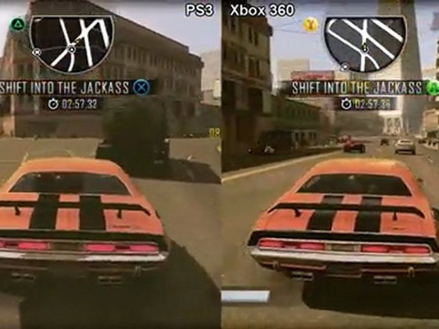 Driver San Francisco Demo Ps3 Vs Xbox 360 Graphics Comparison Video Dailymotion