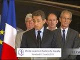 Discours de N. Sarkozy sur le porte-avions Charles-de-Gaulle
