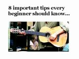HOW TO PLAY GUITAR FOR BEGINNERS - 8 iMPORTANT tIPS