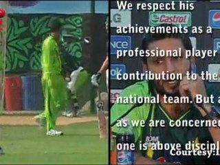 PCB claims Shahid Afridi is indisciplined