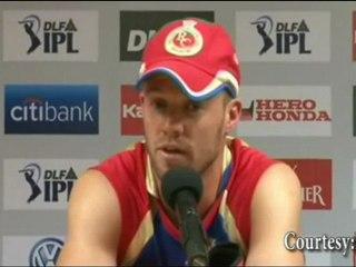 AB de Villiers PREDICTS RCB as the IPL 4 winner !