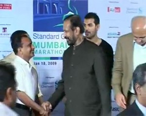 John Abraham Promotes Mumbai Marathon @ Trident Hotel