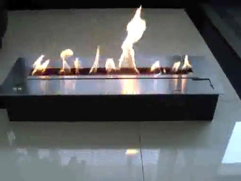 XL steel ethanol fireplace with a secure burning system Ethanol burner