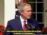 11 sept - Bush parle d'explosifs dans le WTC