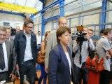 Primaires socialistes : Martine Aubry en campagne à Montceau-les-Mines (31/08/2011)