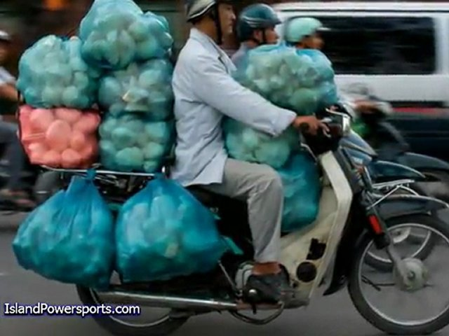 Motorcycles With Serious Cargo!