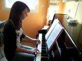 Lettre a Elise interpretee au piano par une éléve de Martine de l'ALJA  aux Adrets de l'Esterel