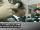 Estudiantes chilenos se reunirán con Sebastián Piñera