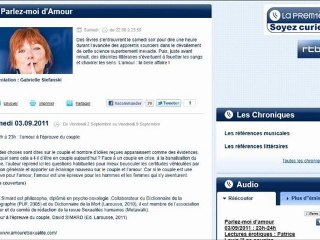 """""""Parlez-moi d'amour"""" RTBF David Simard 03/09/2011"""