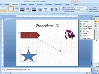 1 - 3 Déplacer Animer les objets dans Microsoft Powerpoint
