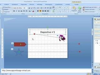 Visionnez les Cours Vidéo de 2 - 3 D�placer Animer les objets dans Microsoft Powerpoint