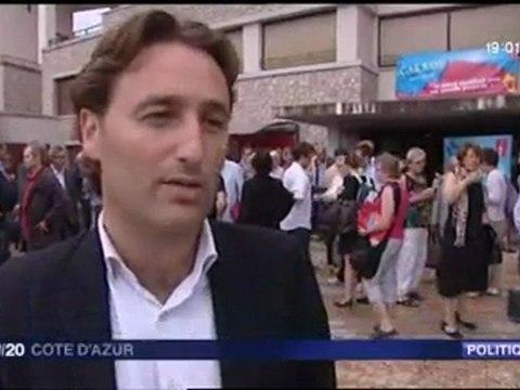 UNIVERSITE D'ETE DU MRC 2011 A CARROS : REPORTAGE JT F3 ET ITV LADISLAS POLSKI