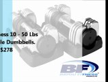 Review of Bayou Fitness Weight Adjustable Dumbbells