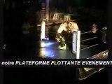 SCENE FLOTTANTE 1PACT ORGANISATION (www.1pact.org) PLATEFORME FLOTTANTE EVENEMENTIEL SHOW CATCH SUR L'EAU RING FLOTTANT PONTON FLOTTEURS ANIMATIONS AQUATIQUES PISCINE STADES NAUTIQUES FRANCE EUROPE MONACO NICE PARIS GENEVE MIAMI