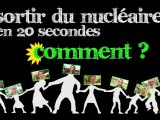 Sortir du nucléaire en 20 secondes : comment