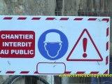 Enfermé dans le chantier des halles à Chambéry