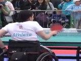 Los atletas paralímpicos de Londres 2012 ofrecen una exhibición en Trafalgar