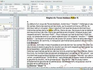 Visionnez les Cours Vidéo de Fonction volet de navigation dans Microsoft Word 2010