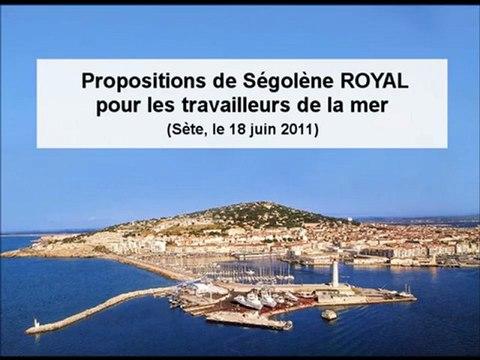 Ségolène Royal: propositions pour les métiers de la mer. (2011)
