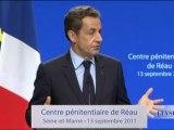 Discours sur l'amélioration de l'exécution des peines : N. Sarkozy