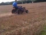 tracteur tondeuse cross en essais