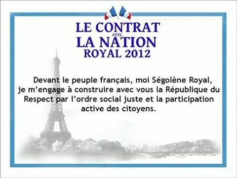 Contrat avec la nation de Ségolène Royal