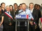 Nicolas Dupont-Aignan aux Universités de rentrée de DLR