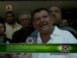 Trabajadores de la Alcaldía de Maracaibo protestan en Caracas