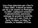 02-03-2007 - Wesley Clark - L'origine des guerres en Irak et en Libye