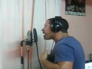 """Ruzzo (Orishas) y Sr Rodriguez en el estudio la Celula Music grabando """"H2O"""""""