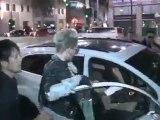 Tokio Hotel band Bill Kaulitz and Tom Kaulitz swarmed by paparazzi leaving Katsuya in LA