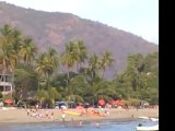 Beach hotels and boats, Acapulco, Mexico